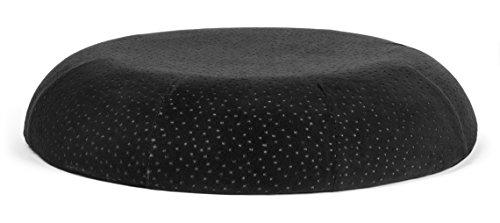 Car Seat Cushion With Machine Washable Black Plush Velour
