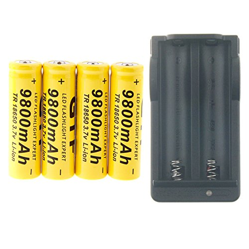 for Electric Tools with Free Storage Case Gold Series Lithium Ion 3.7V Flat Top 18650-Battery LED Flashlights 3000mAh 2 Pack of IMREN Rechargeable Batteries 40A