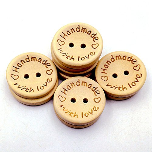 BcPowr 100 PCS Wooden Cartoon Buttons Assorted Design for Crafts Scrapbooking Or Sewing
