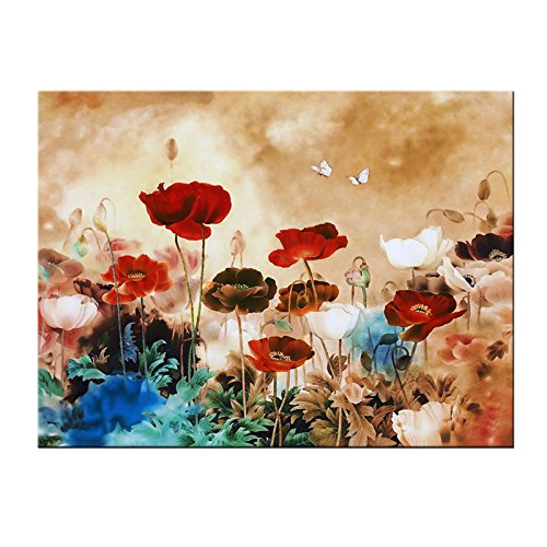 Canvas wall art canvas print red umbrella walking on paris modern the canvas print is already perfectly stretched on wooden frame with hooks mounted on each panel for easy hanging out of box canvas wall art and canvas mightylinksfo