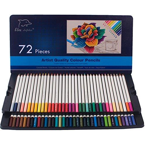 Lelix Colored Pencils 60 Unique Colors Premium Soft Core Perfect Color Pencil for Adult Coloring Books and Artists