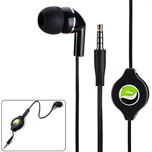Single Earbud Stereo To Mono Headphone W Mic Black Silver