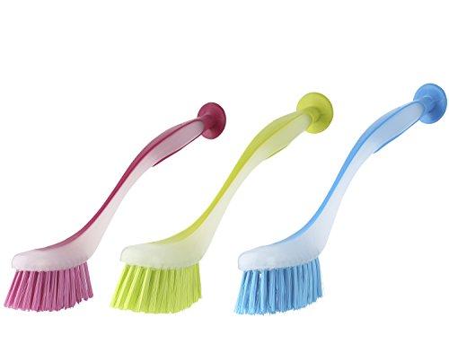 Mr Siga Round Dish Brush Size Dia 5 5 X 25cm Set Of 3