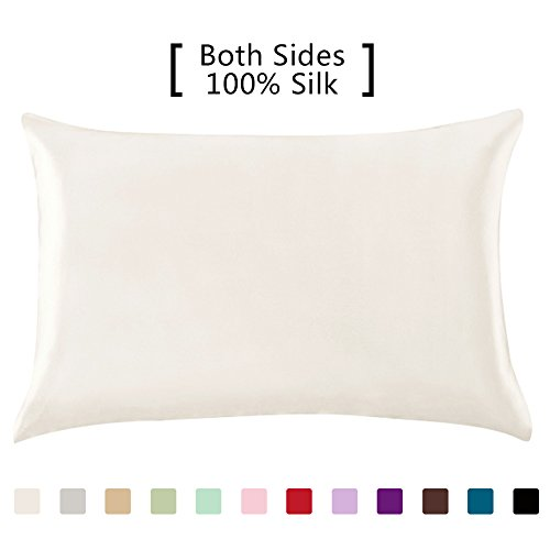 Pinzon Mulberry Silk Pillowcase Queen White Remoticol